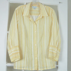 Coldwater Creek Large Yellow Button Up Shirt